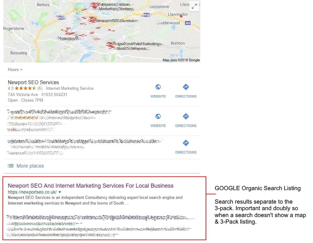 local Buisiness organic search for buyer keyword
